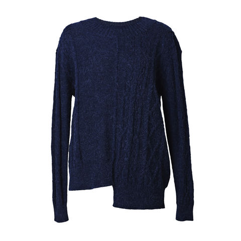 Contrast,cable,cashmere,jumper,Cable jumper, contrast jumper, cashmere jumper, Navy jumper