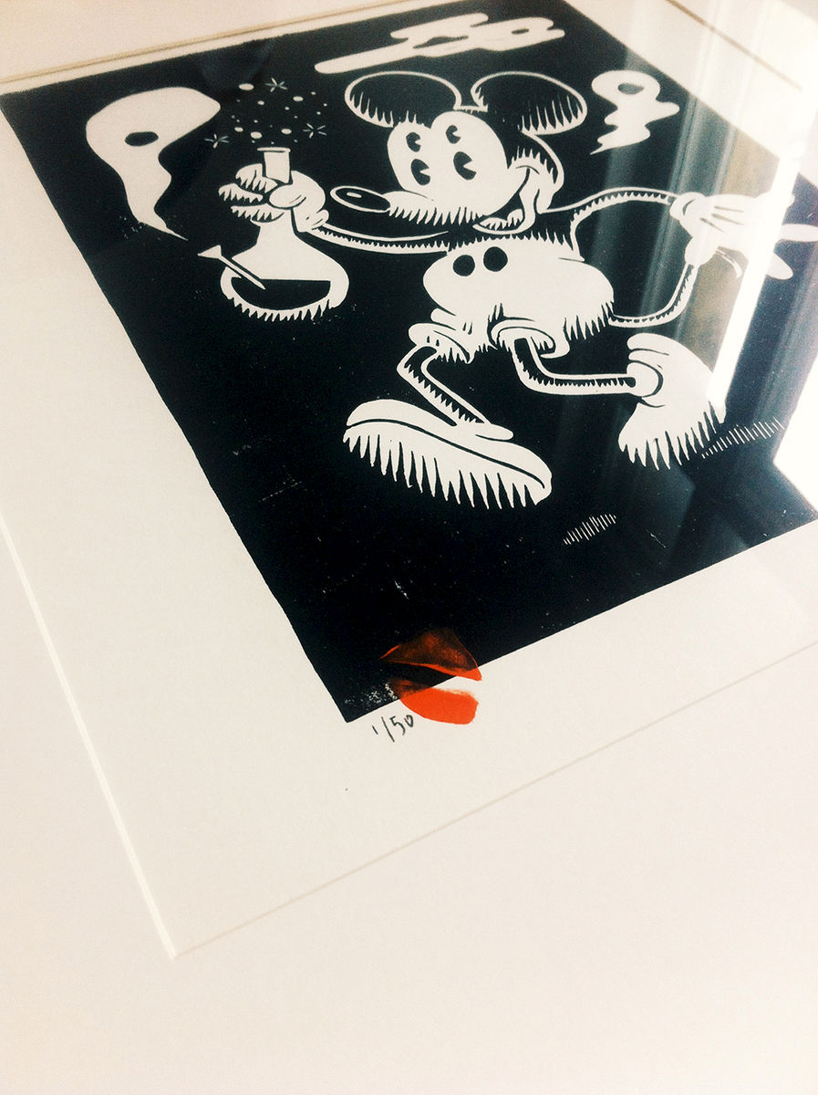 MICKEY HIGH - Original relief. Hand Printed - product images  of