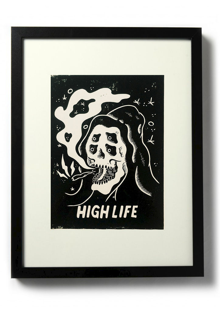 HIGH LIFE - Original relief. Hand Printed - product images  of