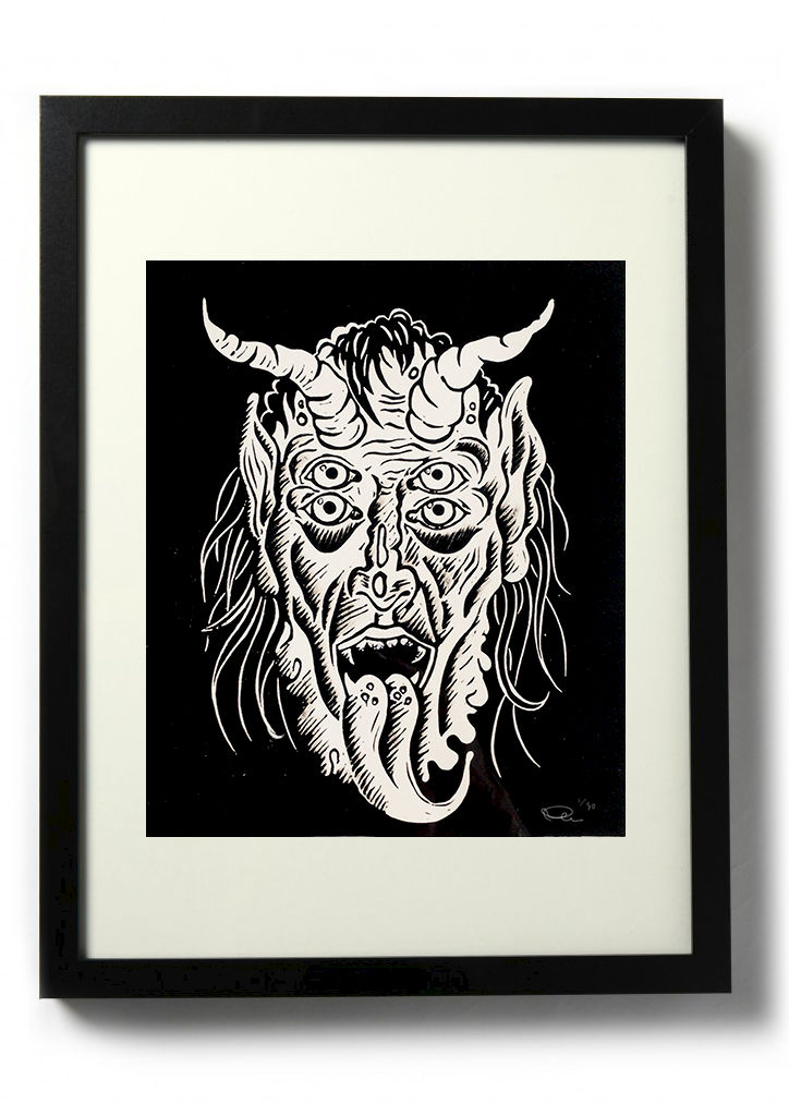 KRAMPUS - Original relief. Hand finished, hand printed - product images  of