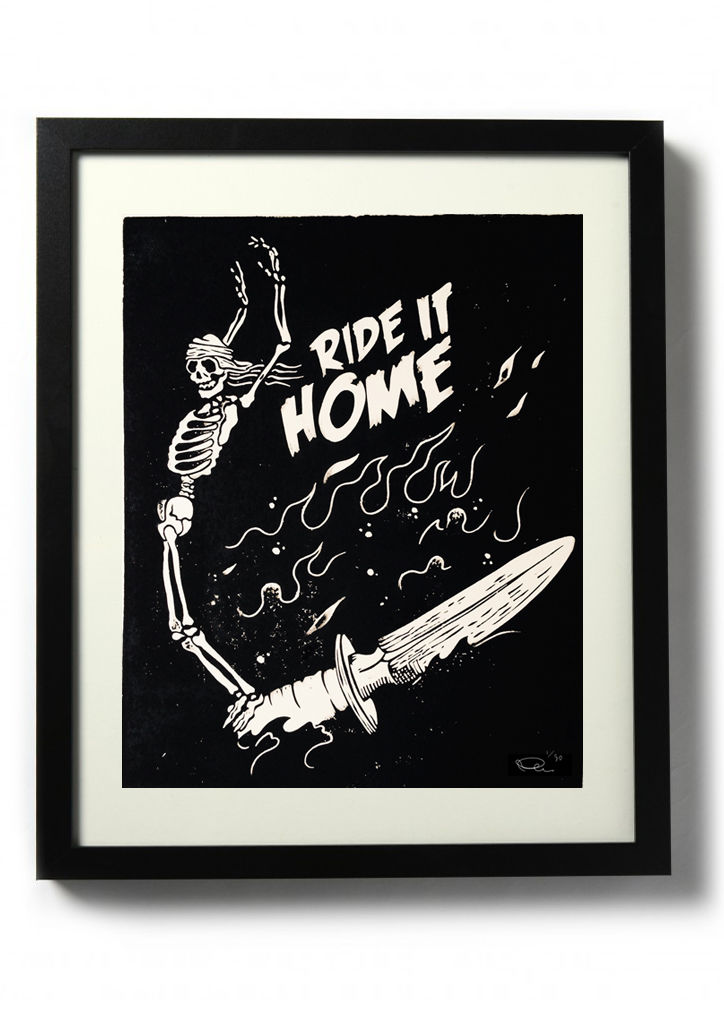 RIDE IT HOME - Original relief. Hand finished, hand printed - product images  of