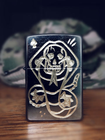 JUNGLE,Cobra,-,Custom,Hand,Engraved,Lighter,Rocco Malatesta, art, handmade, illustration, design, gadget, tattoo, traditional, ink