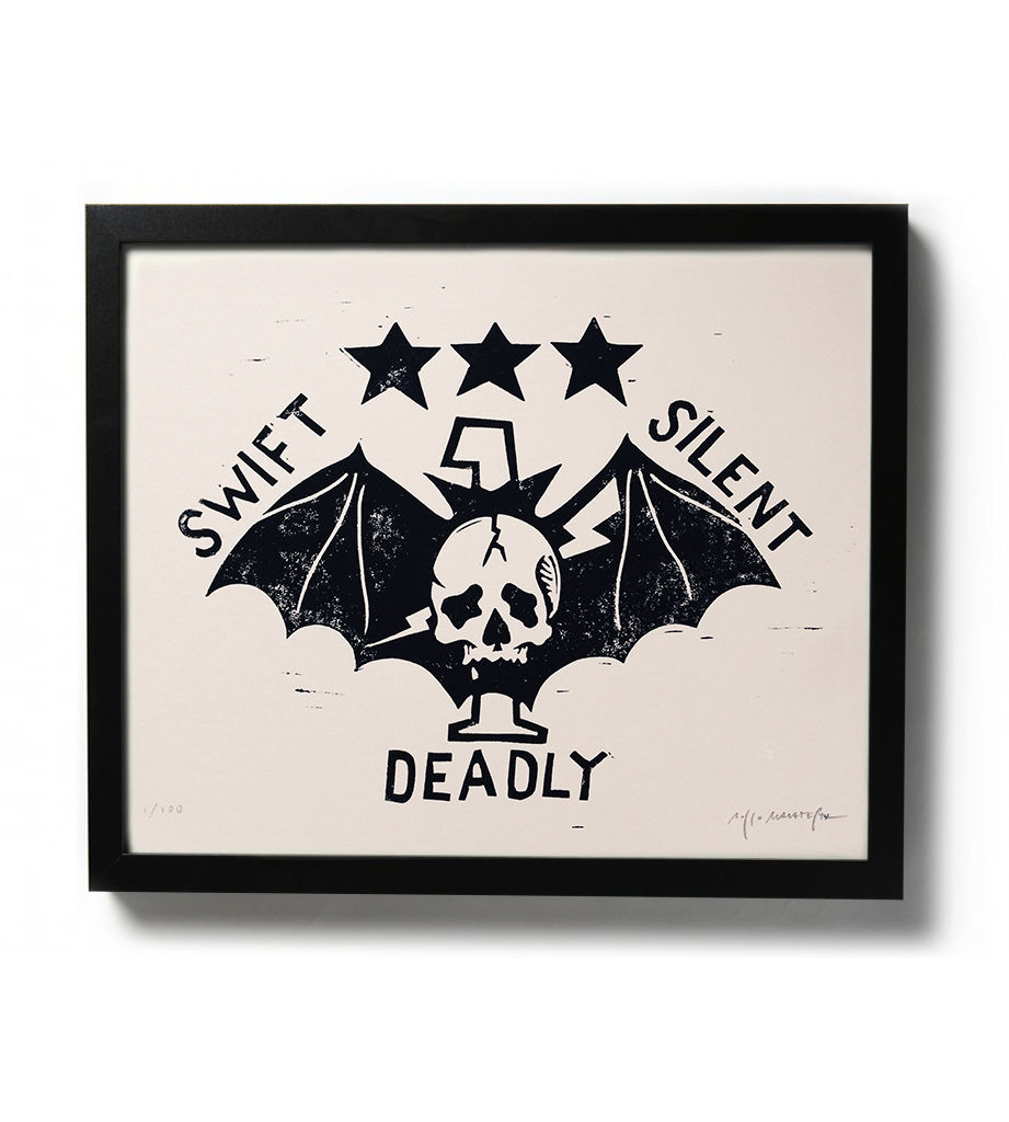 SWIFT, SILENT, DEADLY - Original relief. Hand printed. - product image