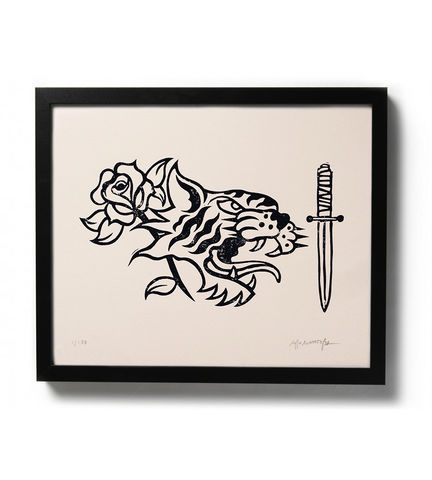 R.T.D.,-,Original,relief.,Hand,printed.,buy prints online, art, traditional illustration, traditional tattoos, linocut, rocco malatesta