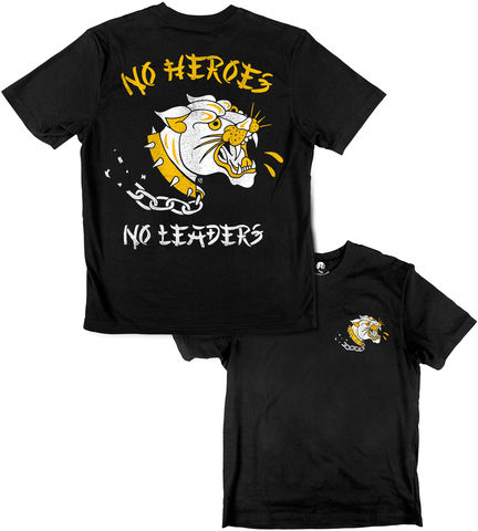 NO,HEROES,,LEADERS,buy t-shirts online, traditional illustration, traditional tattoos, tattoos t-shirts, no heroes, no leaders, graphic t-shirts store, rocco malatesta