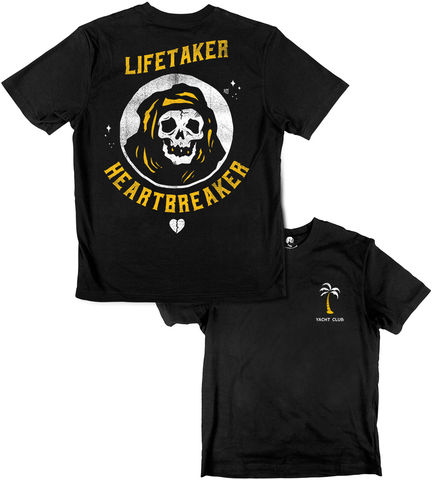 HEARTBREAKER,YACHT,CLUB,buy t-shirts online, traditional illustration, traditional tattoos, tattoos t-shirts, life taker, heartbreaker, reaper, graphic t-shirts store, rocco malatesta