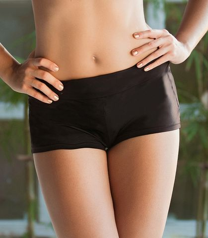 Lalos,Black,High,Waisted,Swim,Shorts,black briefs, swim breifs bottoms swim-shorts plain briefs 258-71P-BK