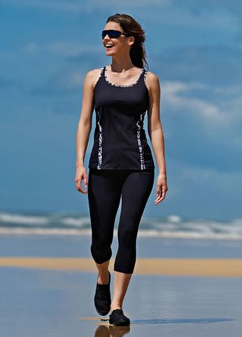Black Mastectomy Sports Vest - product images  of