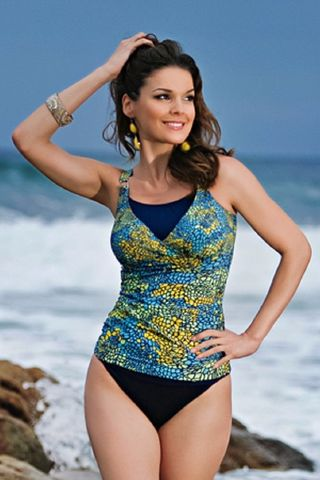 Aqua,Yellow,and,Blue,Toldeo,Mastectomy,Tankini,Mastectomy Tankini, jamu austrailia, post surgeryTankinis, Mastectomy swimwear, jamu swimwear, designer mastectomy swimwear
