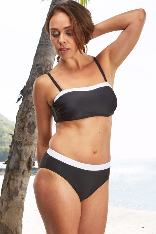 Black & White Bandeau Mastectomy Bikini - product images  of