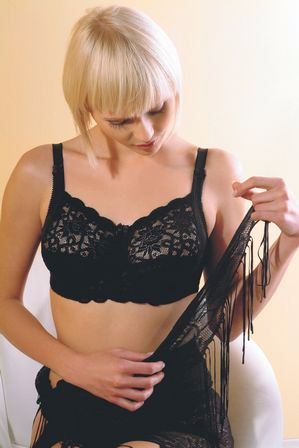 Orchid Mastectomy Bra - Black Right Pocket - product images  of