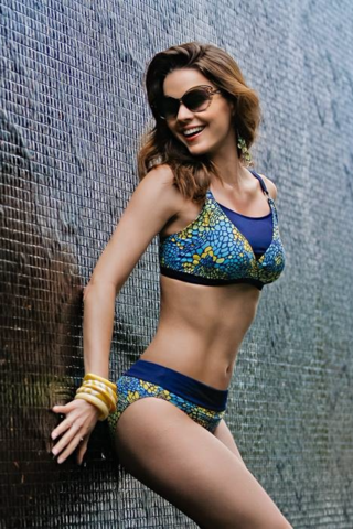 Aqua Yellow Toledo Mastectomy Bikini - product images  of