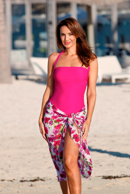 Berry Pink Mastectomy Swimsuit - product images  of