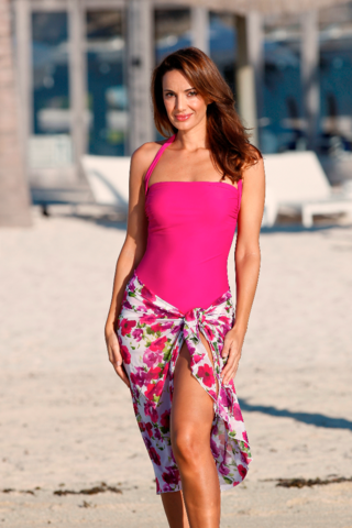 Berry Pink Mastectomy Swimsuit - Size 42 only - product images  of