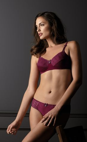 Louise Non-Wired Mastectomy Bra – Burgundy - product images  of