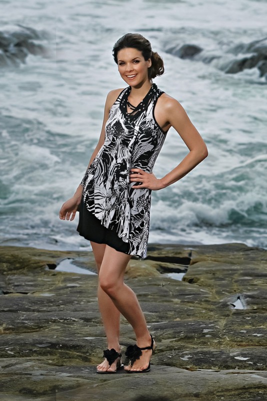 Caye Black & White Mastectomy Dress - product images  of