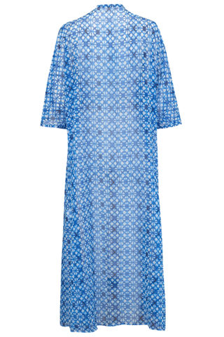 Lindos Navy and White Kaftan - Large (16/18 UK) - product images  of