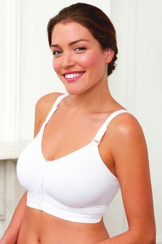 Front Fastening Post Surgery Bra - White - product images  of