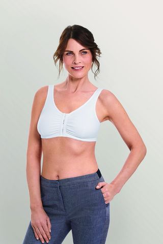 Frances White Front Fastening Post Surgery Bra  - product images  of