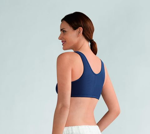 Frances Navy Front Fastening Post Surgery Bra  - product images  of