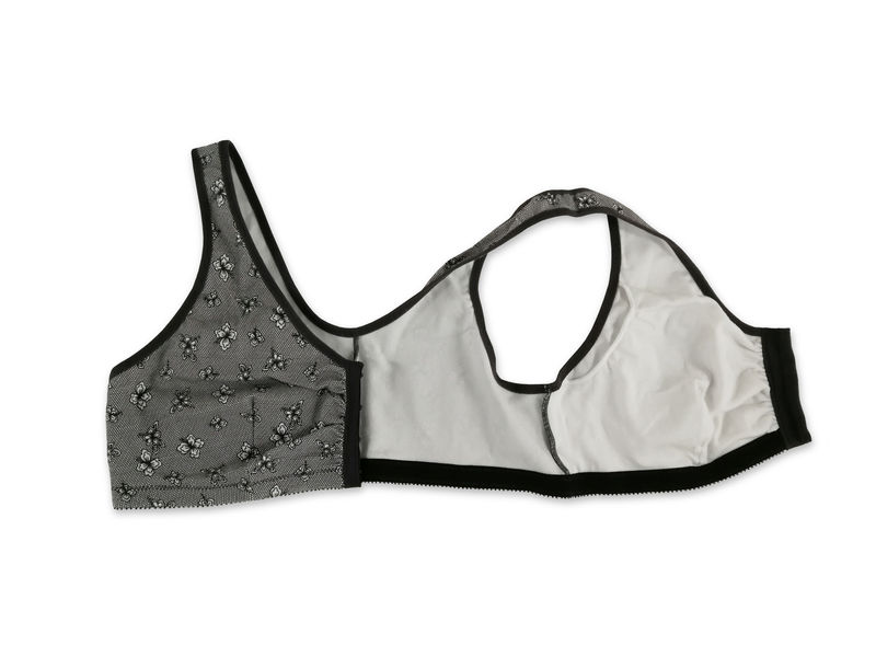 Frances Grey Lace Front Fastening Post Surgery Bra  - product images  of