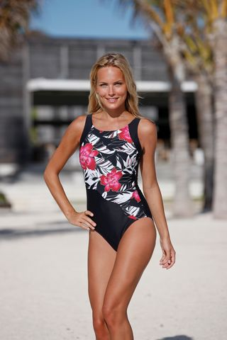Floral - Bias Cut Mastectomy Swimsuit - Size 20/44 UK only - product images  of