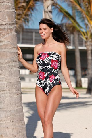 Floral,Halterneck,Mastectomy,Swimsuit,-,Size,08/32,(UK),only,Floral Mastectomy Swimsuit, Post Surgery swimsuit, halterneck mastectomy swimsuit, nicola jane swimwear.