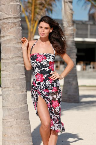 Floral Halterneck Mastectomy Swimsuit - Size 08/32 (UK) only - product images  of