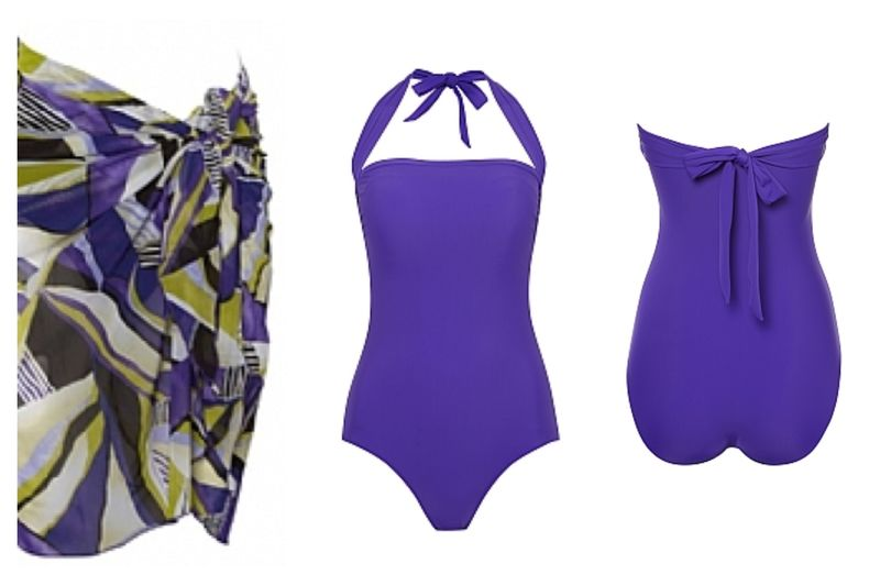 Vivid Purple Mastectomy Swimsuit  - product images  of