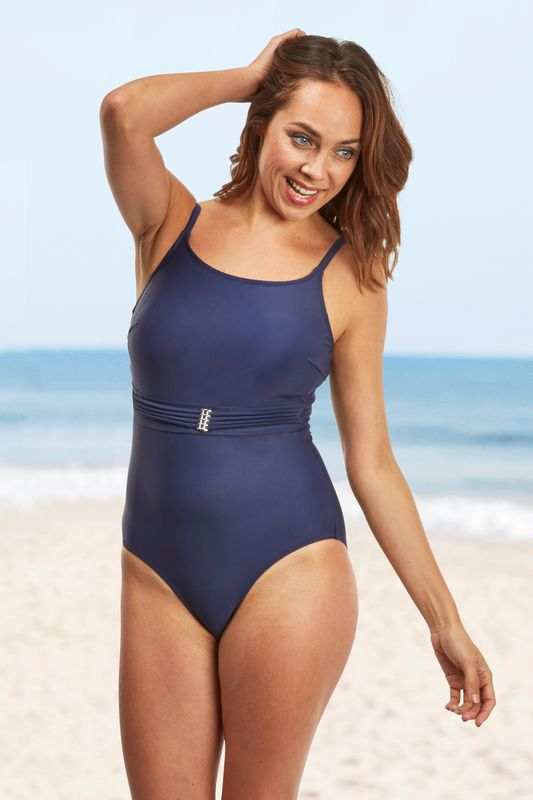 Navy St Martin Mastectomy Swimsuit - product images  of