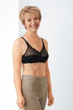 Ellen Black Front Fastening Mastectomy Bra  - product images  of