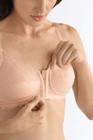Ellen Rose Nude Front Fastening Mastectomy Bra  - product images  of