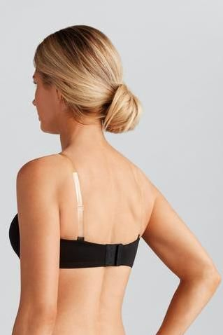 Barara Black Padded Strapless or Multi-way Mastectomy Bra - Underwired - product images  of