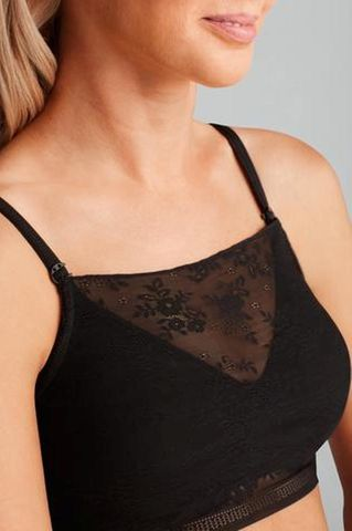 Amber Black Lace Illusion Camisole Accessory - product images  of