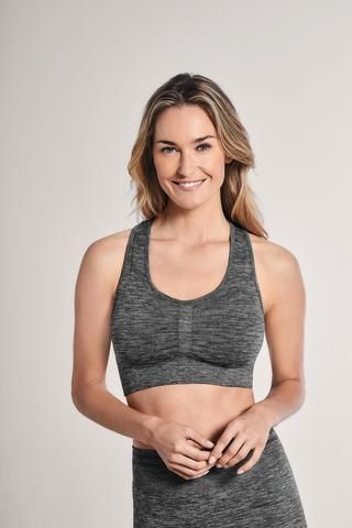 Grey Seamless Mastectomy Sports Bra - product images  of