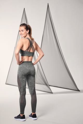 Grey Seamless Mastectomy Sports Leggings - product images  of