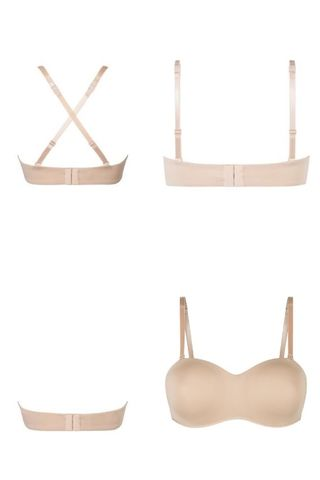 Barara Nude Padded Strapless or Multi-way Mastectomy Bra - Underwired - product images  of