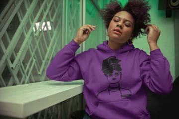 'Gurl Slay' Hoodie Jumper Purple with Black Image - product images  of