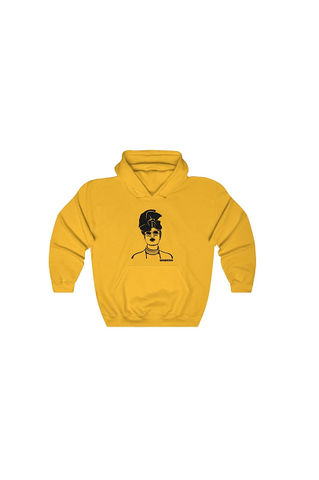 'Gurl Slay' Hoodie Jumper Yellow with White Image - product images  of