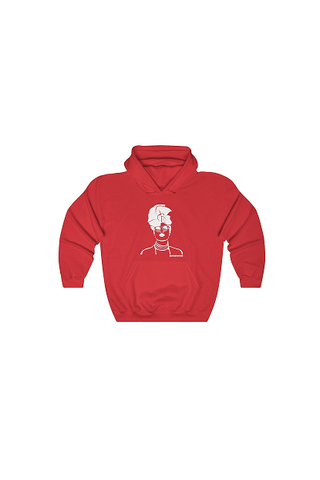 'Gurl Slay' Hoodie Jumper Red with White Image - product images  of