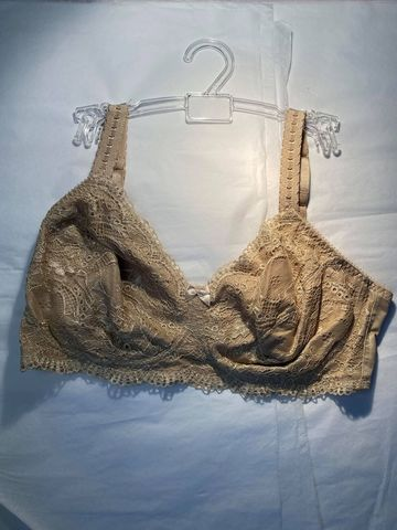 36C,Classique,Beige,Bra,-,Double,Pocketed,Mastectomy,Classique mastectomy Beige Bra, breast cancer surgery 38C