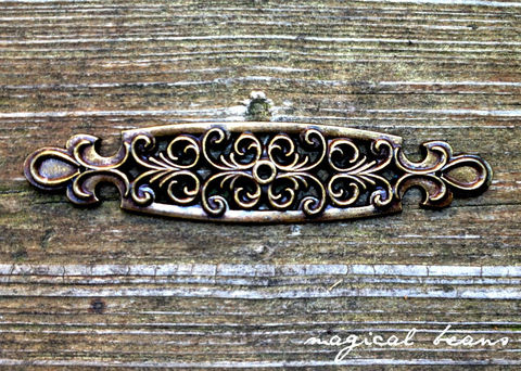 Vintage,Antiqued,Gold,Filigree,Back-plate,in,Solid,Brass,antiqued brass backplate, filigree knob backplate, antiqued brass knob, dark brass backplate, dresser hardware, cabinet hardware, decorative hardware, furniture hardware