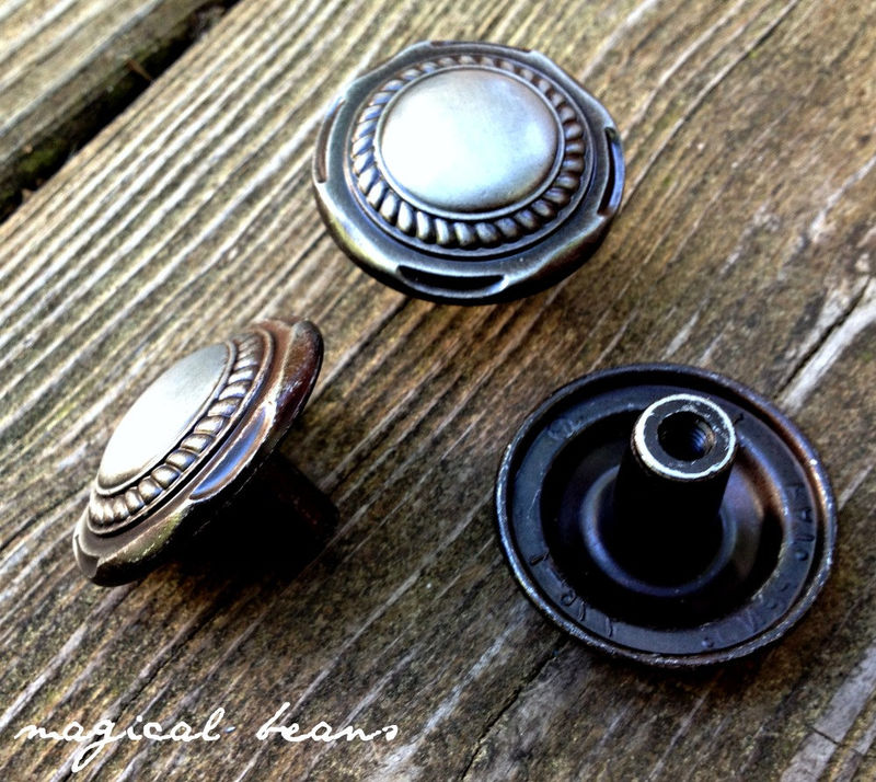 Antiqued Silver Cable Edged Knob  - product images  of