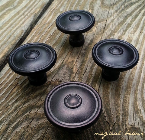 Decorative,Rustic,Farmhouse,Matte,Black,Multi,Ring,Footed,Knob,Knobs & Pulls , Large Round Knobs, Decorative Knobs , Cabinet Knobs, Multi Ring Knobs , Round Knobs,  Farmhouse Furniture Knobs,  Dresser Hardware,,  Black Drawer Knobs , Rustic Drawer Knobs, Industrial Farmhouse Knobs,Furniture Knobs , Dresser Knobs , Bl