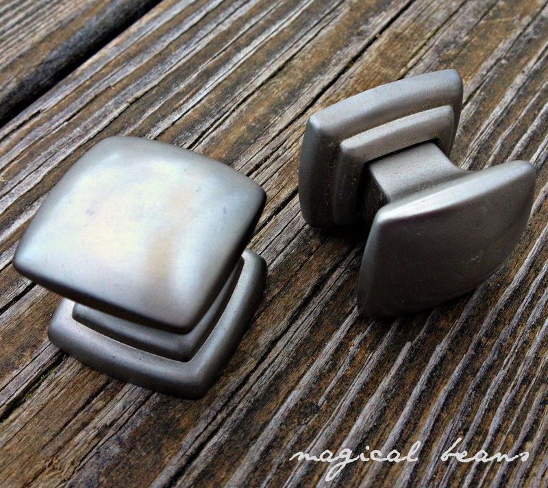 Modern Satin Nickel Square Knob  - product images  of