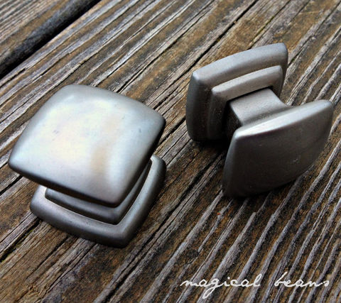 Modern,Satin,Nickel,Square,Knob,silver knobs, satin nickel hardware, nickel drawer pulls, silver drawer knobs, modern drawer knobs, square knobs