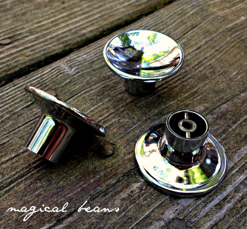 Vintage 1950's Mid Century Modern Chrome Knob  - product images  of