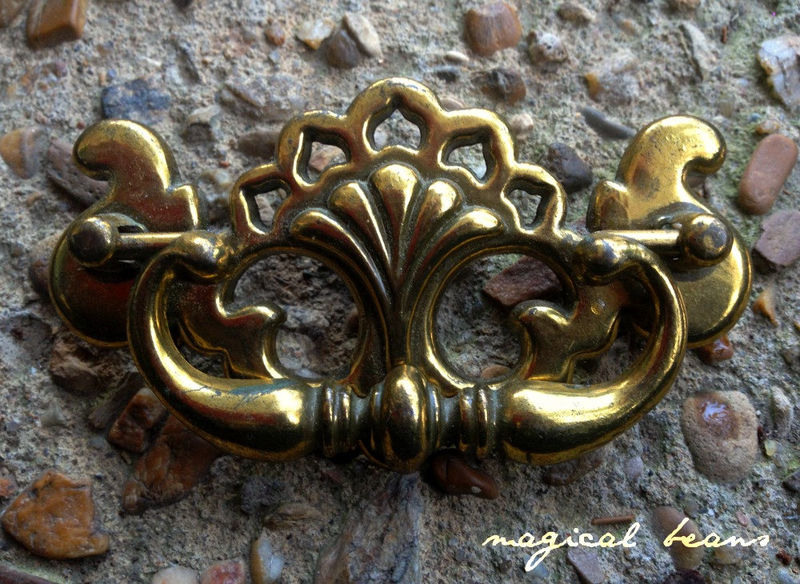 Victorian Chippendale Solid Brass Drop Pull  - product images  of