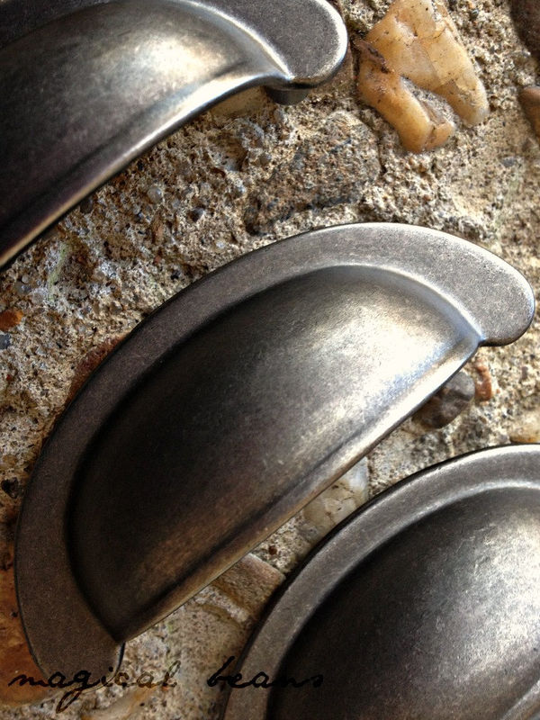 Decorative Small Weathered Nickel Bin Cup Cabinet Pull  - product images  of