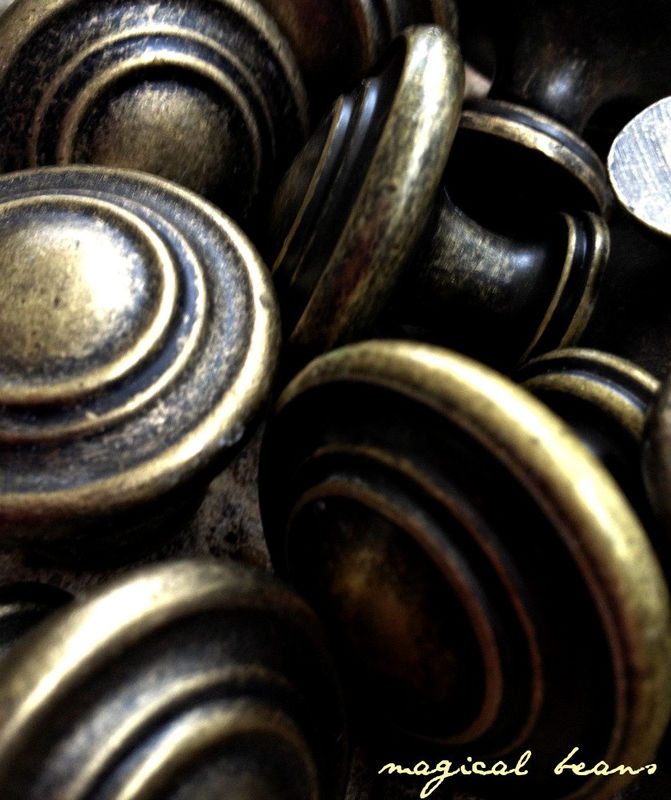 Weathered Brass Multi Ring Knob  - product images  of